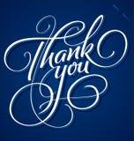 «Σας ευχαριστήστε» δίνει την εγγραφή Στοκ φωτογραφίες με δικαίωμα ελεύθερης χρήσης
