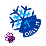 «Chill it» emblem. Vector illustration of a «Chill it» emblem Royalty Free Stock Images
