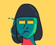 «dziewczyna dymi « ilustracja wektor