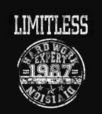 «limitless typografia, koszulki grafika ilustracja wektor