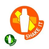 «Shake it» emblem. Vector illustration of a «Shake it» emblem Stock Image