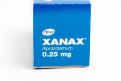 ¬â€œ 03 del 'Svizzera/di Ginevra ââ 03 2019: Droghe di terapia del farmaco antideprimente dell'ansiolitico delle pillole di Xana fotografia stock