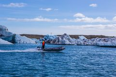 ³ bleu n lagune-Islande de rlà de ¡ de glace-Jökulsà de glacier Image libre de droits