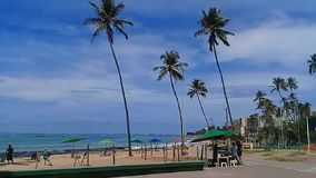 ³ di MaceiÃ, AL, Brasile - 8 maggio 2019: Spiaggia di Jatiuca stock footage