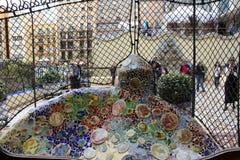 ³ em Barcelona, o trabalho de Batllà da casa do arquiteto Gaudi foto de stock