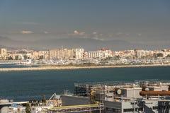 ³ n de La LÃnea de la Concepcià da rainha Elizabeth em Gibraltar Imagem de Stock Royalty Free