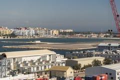 ³ n de La LÃnea de la Concepcià de la Reine Elizabeth au Gibraltar Images stock