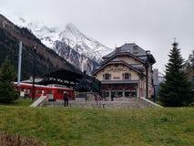 ³ n del estacià di Chamonix-Mont-Blanc immagine stock