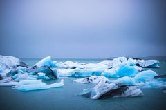 ³ n do rlà do ¡ de Jökulsà - lagoa da geleira no parque nacional de Vatnajokull, Islândia fotografia de stock