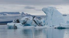 ³ n för Jökulsà ¡ rlÃ, är en stor is- sjö i sydostliga Island, royaltyfria foton