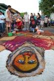 ³ n Nicaragua de Alfombras de aserrÃn Semana Papá Noel Leà fotografía de archivo