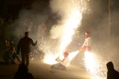 ³ tradicional de Sant Pere de Torellà de las celebraciones imagen de archivo