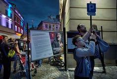 ³ w do sztukmistrzà de Carnaval, Lublin 2017r Imagens de Stock Royalty Free