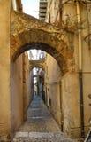 ¹ de CefalÃ, Italie, Sicile le 16 août 2015 Les allées du ¹ de Cefalà Photos libres de droits