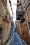 ¹ de CefalÃ, Italie, Sicile le 16 août 2015 Les allées du ¹ de Cefalà Images libres de droits