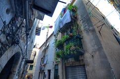 ¹ de CefalÃ, Italie, Sicile le 16 août 2015 Les allées du ¹ de Cefalà Image stock