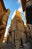 ¹ de CefalÃ, Italie, Sicile le 16 août 2015 Les allées du ¹ de Cefalà Photos stock
