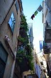 ¹ de CefalÃ, Italie, Sicile le 16 août 2015 Les allées du ¹ de Cefalà Photo stock