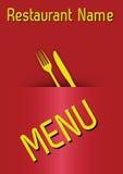 ¹ del menà del restaurante del vector (03) stock de ilustración