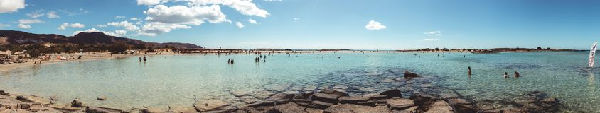1º de outubro de 2017, Elafonissi, praia de Grécia - de Elafonissi fotografia de stock royalty free