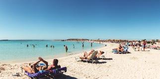 1º de outubro de 2017, Elafonissi, praia de Grécia - de Elafonissi imagens de stock royalty free