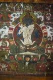 ¼ Œ Kuntuzangpo ï Adi-Будды, настенная роспись первого Будды Pema Lingpa, Бутаном стоковое изображение