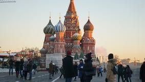 ¼ ŒChristian do Cathedralï da manjericão de ŒSaint do ¼ do churchï do russo imagens de stock royalty free