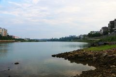 ¼ ŒYongZhou bankï реки xiaoshui, Хунань, фарфор стоковая фотография