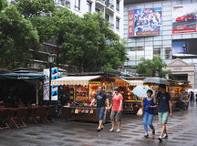 ¼ Китай Шанхай коммерчески Streetï Стоковая Фотография RF
