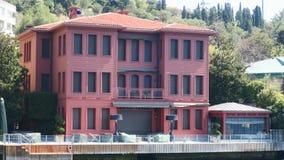 ¼ Bey Seaside Mansion lgaffar de AbdÃ, passo de Istambul, Vaniköy, Turquia fotos de stock royalty free