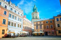¼ de WieÅ un Tyranitarska, regard fixe Miasto W Lublinie image libre de droits