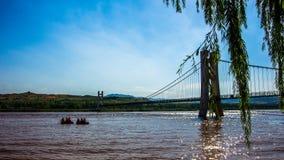 ¼ jaune Œ Chine du ¼ Œ le Ningxia Provinceï du ¼ Œ Shapotouï de Riverï Images libres de droits