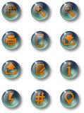 ¼ n-02 del botón-glas-grà foto de archivo libre de regalías