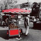¼ rosso dello skà del ¼ del simit à della gente dar Fotografia Stock