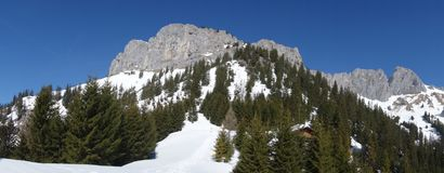 ¼ Rote h Áustria de Flà da montanha da vista fotografia de stock