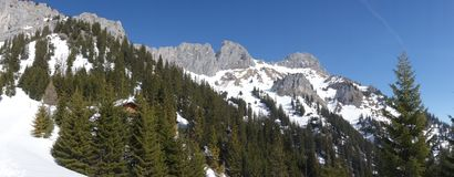 ¼ Rote h Áustria de Flà da montanha da vista imagem de stock royalty free