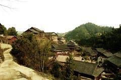¼ rurale di legno ŒPhotography del villageï di ŒChinese del ¼ del houseï fotografia stock