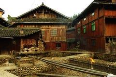 ¼ rurale di legno ŒPhotography del villageï di ŒChinese del ¼ del houseï immagine stock libera da diritti