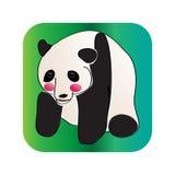 ¼ vermelho do cheekï do ¼ bonito do pandaï Imagens de Stock Royalty Free
