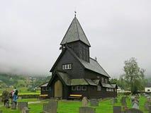 ½ ¿ Rï ldal ударяет церковь в дожде Стоковая Фотография