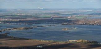 ½ de Nové Mlà del lago artificial ny en Moravia del sur Foto de archivo libre de regalías