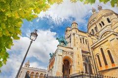 ½ del ¿de Sacrï - Coeur, iglesia en Montmartre París Francia Fotografía de archivo libre de regalías