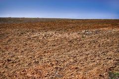 ¿? permita el pasto de tierra en período de la primavera en el área de los suelos de arcilla imagenes de archivo