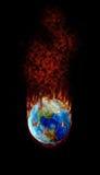 ¿Balompié - el asunto más caliente en la tierra? Foto de archivo