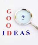 ¿Buenas ideas? Foto de archivo libre de regalías