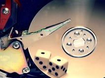¿Caja fuerte de los datos? o suerte Imagen de archivo