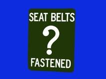 ¿Cinturones de seguridad? Fotografía de archivo libre de regalías