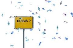 ¿Crisis? Imagenes de archivo