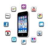 ¿Cuál es apps está en su red móvil hoy? Foto de archivo