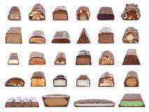 ¿Cuál está en el centro de una barra de chocolate? Fotografía de archivo libre de regalías